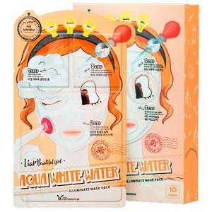 Elizavecca Aqua White Water Illuminate Mask Pack Трехшаговый осветляющий набор для лица, 25мл