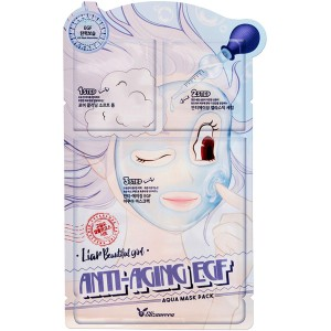 Elizavecca Anti-Aging EGF Aqua Mask Pack Трехшаговый омолаживающий набор для лица, 25мл