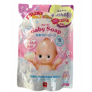 """COW Детская пенка """"2 в 1"""" для мытья волос и тела с первых дней жизни с ароматом детского мыла """"Kewpie"""", Без слёз, мягкая упаковка 350 мл"""