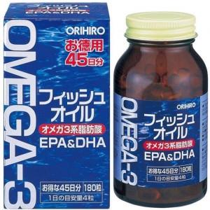 ORIHIRO Омега-3, 180 капсул на 45 дней
