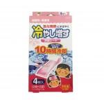 KOKUBO Пластырь охлаждающий гелевый от температуры и головной боли (с ароматом персика), 4 шт