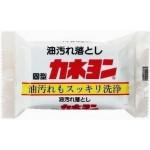 Kaneyo Хозяйственное мыло с абразивами, для удаления масляных пятен с одежды с ароматом мяты 110 г