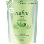 Kracie Naive Шампунь для нормальных волос восстанавливающий-экстракт алоэ и масло виноградных косточек сменная упаковка, 400 мл