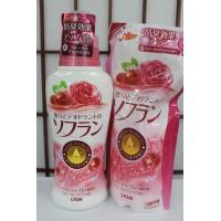 """Lion """"Soflan"""" Кондиционер для белья Premium Deodorizer Zero-O c натуральным ароматом роз, 620мл"""