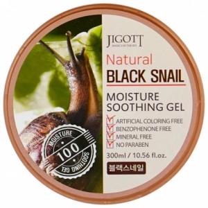 Jigott Гель с экстр муцина черной улитки, 300 мл