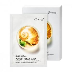 ESTHETIC HOUSE Snail Cica+ Perfect Repair Mask Восстанавливающая тканевая маска для кожи лица на основе муцина улитки, 25 мл