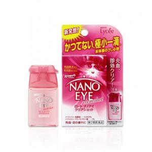 Rohto Nano Eye - ЖЕНСКИЕ розовые нерастекающиеся капли.