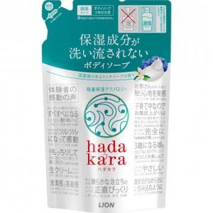 Lion Hadakara Увлажняющее жидкое мыло для тела с ароматом дорого мыла, 360 мл
