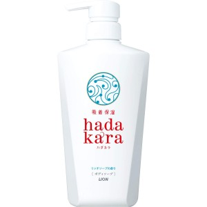 Lion Hadakara Увлажняющее жидкое мыло для тела с ароматом дорого мыла, 500 мл