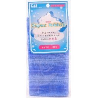 Массажная мочалка для тела Supper Bubble, жесткая, синяя / KAI / 1 шт.