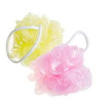 "Sungbo Cleamy Мочалка-розочка из полиэтиленовой сетки ""Rose Shower Ball"" (мягкая) диаметр - 11 см"