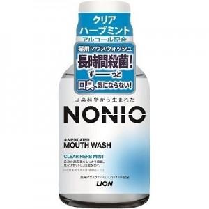 LION NONIO Профилактический зубной ополаскиватель, (аромат трав и мяты), 80 МЛ