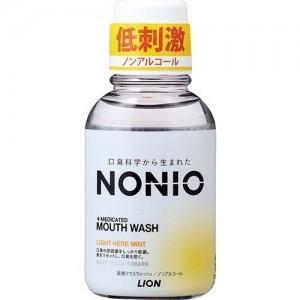 LION Nonio Ежедневный зубной ополаскиватель с длительной защитой от неприятного запаха, (без спирта, легкий аромат трав и мяты), 80 мл