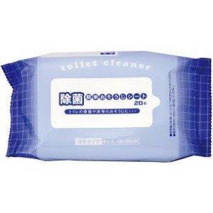 Uchida Влажные растворимые салфетки с антибактериальным эффектом для туалетной комнаты, 20 шт