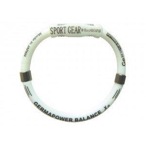 Германиевый браслет с усиленной застежкой для занятий спортом и активного образа жизни размер М - 17,7 см, белый