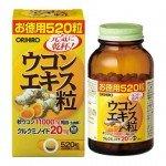 Orihiro экстракт осенней Куркумы, 520 шт. на 43-65 дней