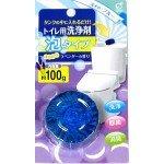 """""""Okazaki"""" Очищающая и дезодорирующая пенящаяся таблетка для бачка унитаза, окрашивающая воду в голубой цвет (аромат лаванды), 100 гр"""