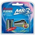 """Feather F-System Запасные кассеты с тройным лезвием  """"MR3 Neo"""", 5шт"""