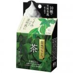 Cow Ochya Очищающее мыло для лица с экстрактом зеленого чая, гиалуроновой кислотой, коллагеном и скваланом, 80 гр
