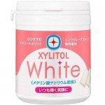 "Lotte Xylitol Gum White Bottle Японская жевательная резинка, со вкусом ""розовый грейпфрут"", 143 г"