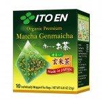 ItoEn Organic Premium Matcha Genmaicha Зеленый чай Матча с обжаренным рисом, 10 пакетиков