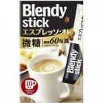 AGF BLENDY STICK, экспрессо 3 в 1 с пониженным содержанием сахара, 77г (7,7 гр х10)