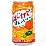 Напиток безалкогольный газированный Sangaria Hajikete Orange Апельсин, 350 мл