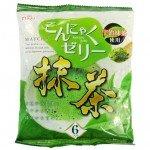 Yukiguni Aguri Желе порционное Конняку со вкусом зелёного чая, 6х18 гр, 108 гр