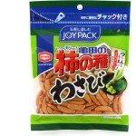 Kameda Wasabi Kakinotane - Рисовые снеки со вкусом васаби и арахисом, 83 г