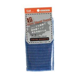 Kai Мочалка для мужчин с плотным плетением, жесткая, темно-синяя 28х120 см