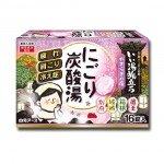 Hakugen Увлажняющая соль для ванны с восстанавливающим эффектом на основе углекислого газа с гиалуроновой кислотой, с ароматами яблока, леса, груши и сакуры, 16х45 гр
