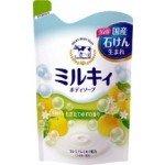"""Жидкое мыло для тела c церамидами и молочными протеинами COW BRAND """"Milky"""" цитрусовый аромат, наполнитель 400мл"""