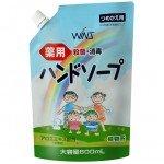 Nihon Wins Семейное жидкое мыло для рук с экстрактом алоэ, мягкая упаковка 600 мл