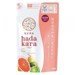 Lion Hadakara Увлажняющее жидкое мыло для тела с ароматом смородины и цитрусов, 360 мл