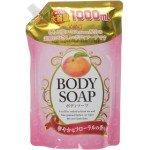 Wins Body Soap peach Увлажняющий гель для душа с экстрактом листьев персика, 1000 мл