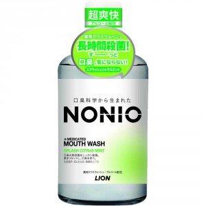 LION Nonio Ежедневный зубной ополаскиватель с длительной защитой от неприятного запаха, (аромат цитрусовых и мяты), 600 мл